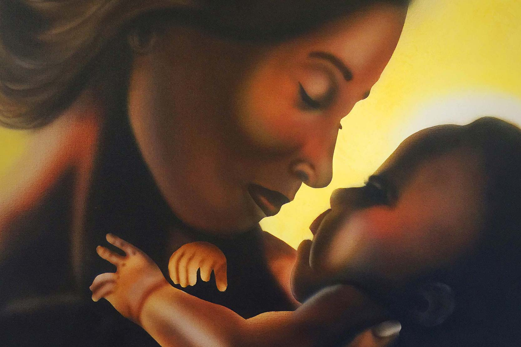 Mary and Jesus by Aboriginal artist John Dunn. Image provided by Aboriginal Catholic Ministry Victoria.