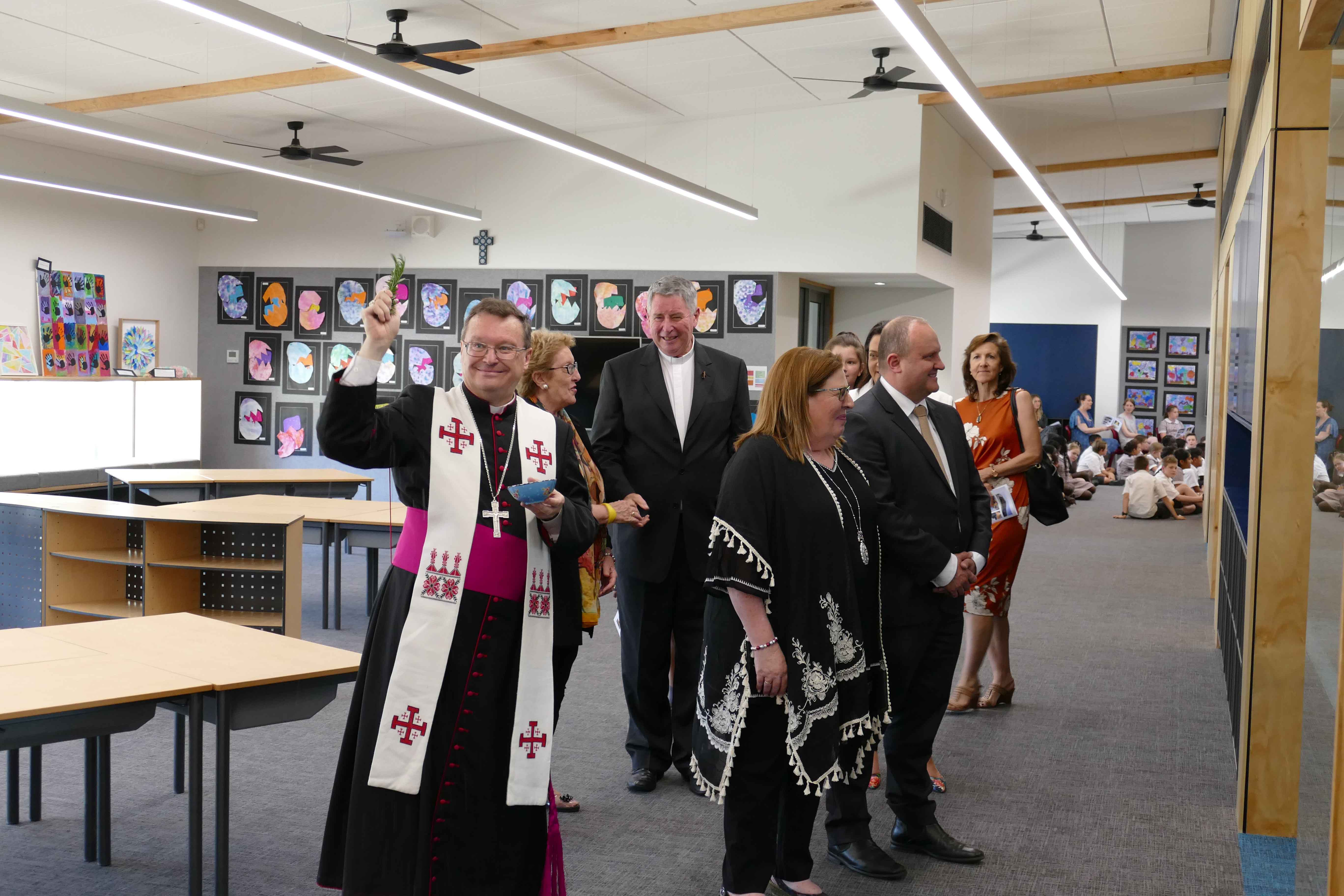 Bishop O'Regan Blesses classrooms at St Clare's Primary, Officer