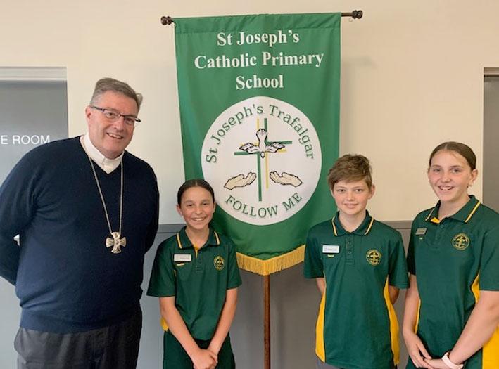 Bishop Greg with School Leaders Trafalgar